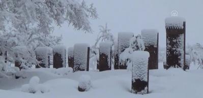 Tarihi yapılarda kış güzelliği