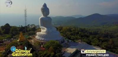 Tayland'ın ikinci Phuket'in en büyük Buda heykeli ve Budist tapınakları