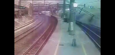 Tayvan'daki tren faciası kamerada