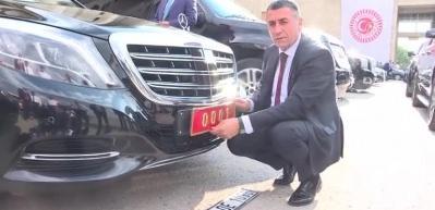 TBMM Başkanı Yıldırım'ın makam aracının plakası değişti