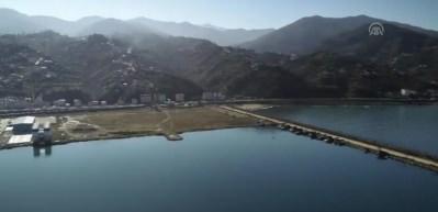 TCG Fatih, Sürmene'de heyecanla karşılandı