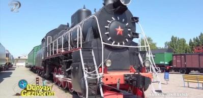 Sanayi ve ticaretin şehri Kharkiv'in tarihi tren müzesi