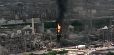 Teksas'ta rafine yangını!