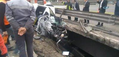 TEM'de kaza! Vali ve kaymakam eşleri yaralandı