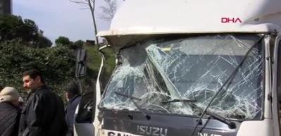 TEM'de zincirleme trafik kazası