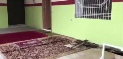 Teröristler caminin altına sığınak yapmışlar