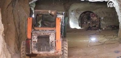Teröristlerin Afrin merkezindeki tünelleri böyle görüntülendi