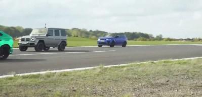 Tesla, Mercedes, Lamborghini ve Range Rover yarıştı