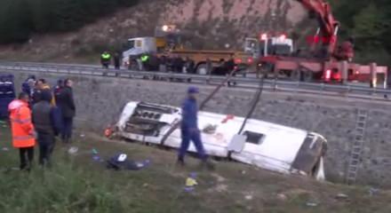 Afyonkarahisar'da yolcu otobüsü devrildi: 8 ölü, 28 yaralı