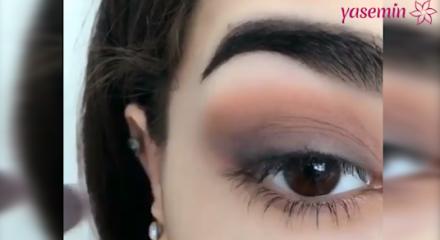 Basit ve hızlı yapılan göz makyajı