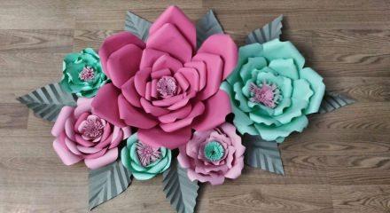 Çiçeklerle duvar süsleme