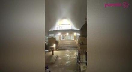 Kudüs'e yağan kar hayran bıraktırdı