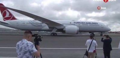 THY'nin 'rüya uçağı' İstanbul Havalimanı'na indi