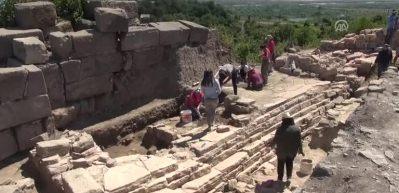 Tieion Antik Kenti'ndeki kazı çalışmaları başladı
