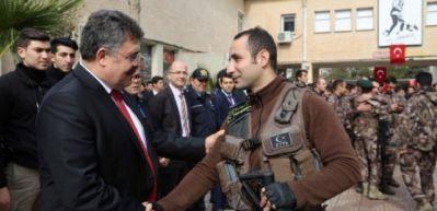Tipioğlu, silah arkadaşlarını Afrin'e uğurladı