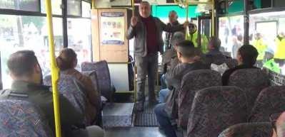 Toplu taşıma araçlarına yolcu gibi binen polis 175 sürücüye ceza yazdırdı