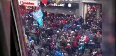 Trabzonspor taraftarından GS Store'a saldırı