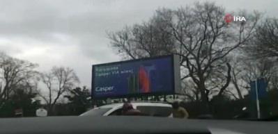 Trafikte yumrukların konuştuğu kavga kamerada