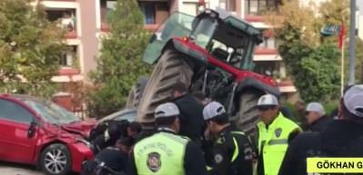Traktör sürücüsü bacağından vurularak durduruldu