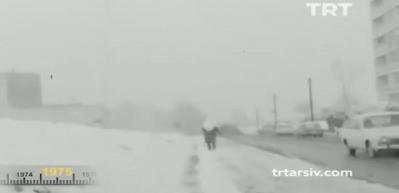 TRT yayınladı! 1975'te İstanbul'dan kar manzaraları