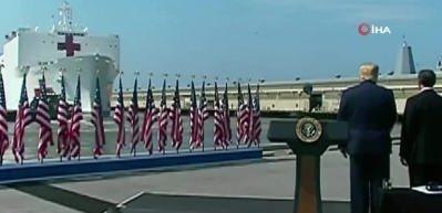 Trump, USNS Comfort hastane gemisini New York'a yolcu etti