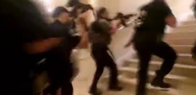 Trump'a kızdı, otelini bastı! Korku dolu anlar kamerada