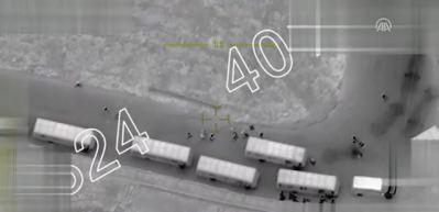 TSK, mühimmat konvoyunu sivillerden ayırıp vurdu
