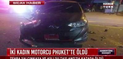 Türk kadın motorcular Tayland'da yaşamını yitirdi!