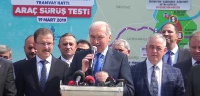 Türkiye'de bir ilk! Test sürüşüne başladı