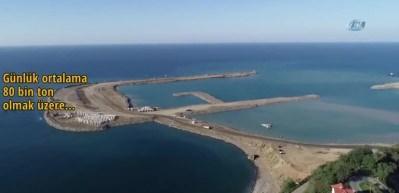 Türkiye'de ikinci! 14,5 milyon taş denize döküldü
