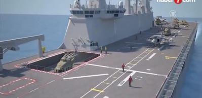 Türkiye'nin ilk milli uçak gemisi 'TCG Anadolu'