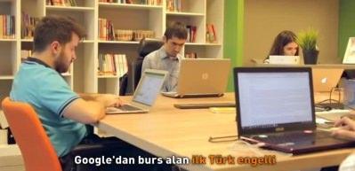 Muratcan Çiçek Google'dan burs alan ilk Türk engelli oldu