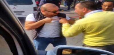 UBER şoförüyle taksici birbirine girdi!