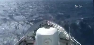 Uluslararası sularda tarihi operasyon kamerada!