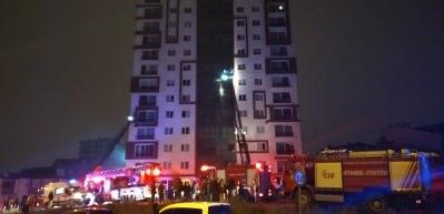 Ümraniye'de 12 katlı binanın trafosunda yangın paniği!