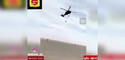 Arap komando helikopterden yere çakıldı!