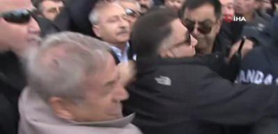 Vatandaşların saldırısına uğrayan Kılıçdaroğlu bir eve sığındı