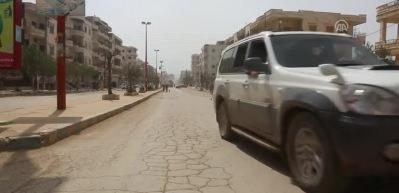 Afrin şehir merkezinde güvenlik güçleri, mayın arama tarama faaliyeti yürütüyor