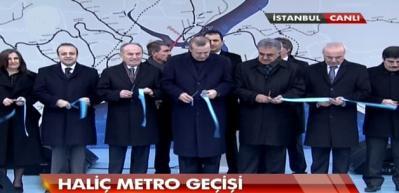 Haliç metrosu Erdoğan tarafından açıldı