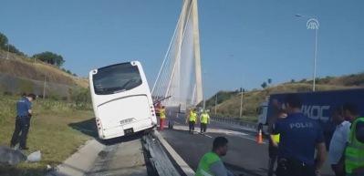 Yavuz Sultan Selim Köprüsü'nde kaza! Çok sayıda yaralı var