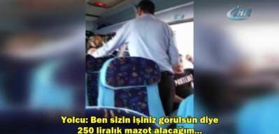Yolcu otobüsünde büyük rezalet!