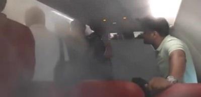 Yolcular inmedi, pilot soğuk hava püskürttü