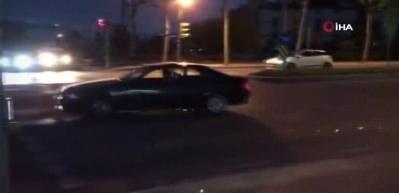 """Yolu trafiğe kapatıp """"drift"""" yaptı, yakalandı!"""