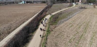 Yunanistan sınırında ilginç görüntü