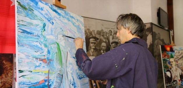 İngiliz ressamdan Atatürk tablosu