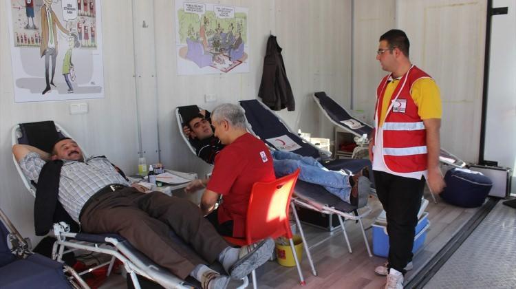 Karapınar'da kan bağışı