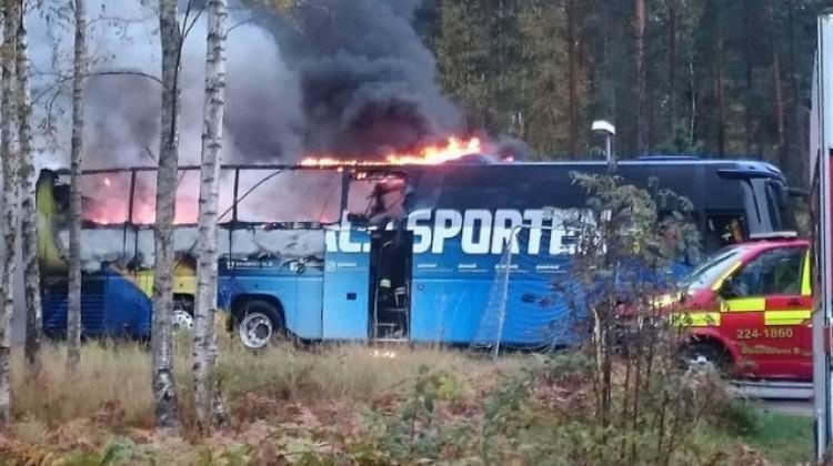 Milli takım otobüsünde yangın şoku!