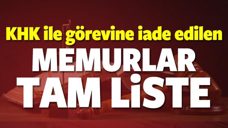 FETÖ'den açığa alınan memurların tam listesi yayınlandı