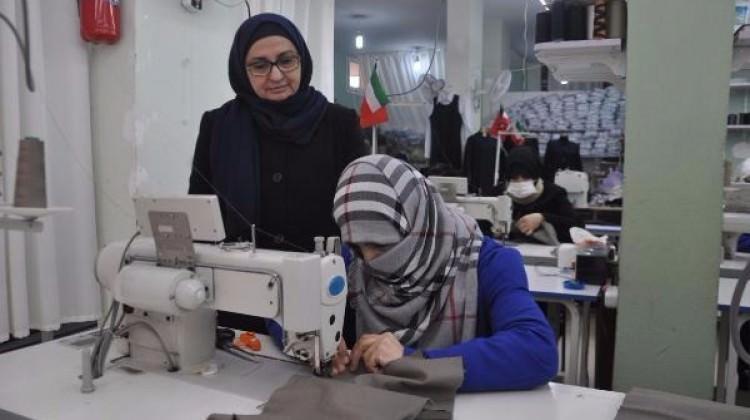 Atölye açan Suriyeli, 22 kadına istihdam sağladı