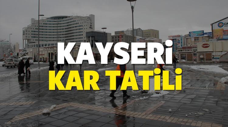 Kayseri'de yarın okullar tatil olacak mı? 12 Ocak valilik kararı